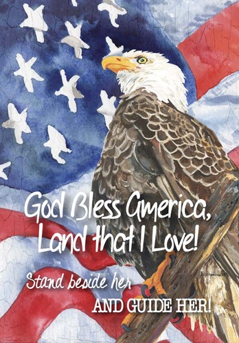 God Bless America Poster by Cindy Fornataro for $42.50 CAD