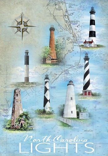 North Carolina Lights Poster by Cindy Fornataro for $42.50 CAD