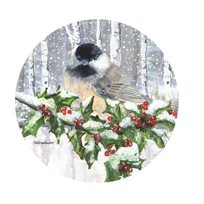 Winter Wonder Chickadee Poster by Cindy Fornataro for $63.75 CAD