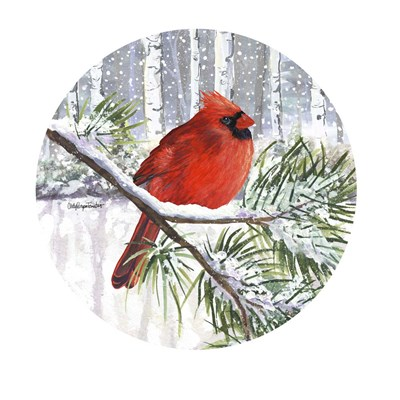 Winter Wonder Male Cardinal Poster by Cindy Fornataro for $63.75 CAD