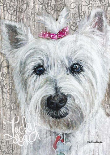 Lucky Dog Westie Poster by Cindy Fornataro for $42.50 CAD