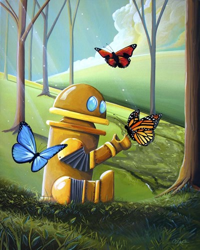 Bot and the Butterflies Poster by Cindy Thornton for $40.00 CAD