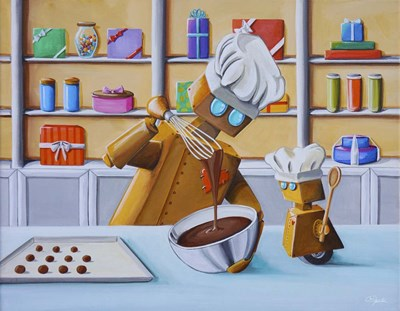 The Chocolatiers Poster by Cindy Thornton for $38.75 CAD