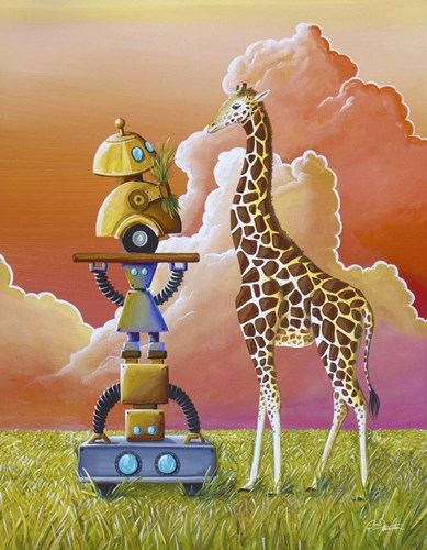 Robots On Safari Poster by Cindy Thornton for $40.00 CAD
