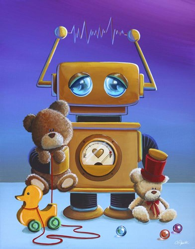 The Toy Robot Poster by Cindy Thornton for $40.00 CAD