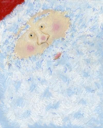 Santa's Smile Poster by Claudia Interrante for $47.50 CAD