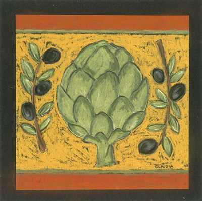 Tuscan Artichoke Poster by Claudia Interrante for $41.25 CAD