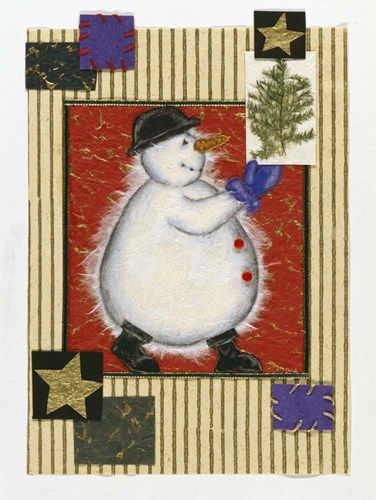 Snowman Poster by Claudia Interrante for $50.00 CAD