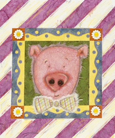 Pig in Bow Tie Poster by Claudia Interrante for $46.25 CAD