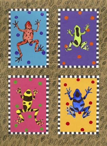 Froggies Poster by Claudia Interrante for $50.00 CAD
