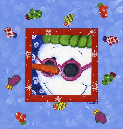 Snowman Glasses Poster by Claudia Interrante for $42.50 CAD