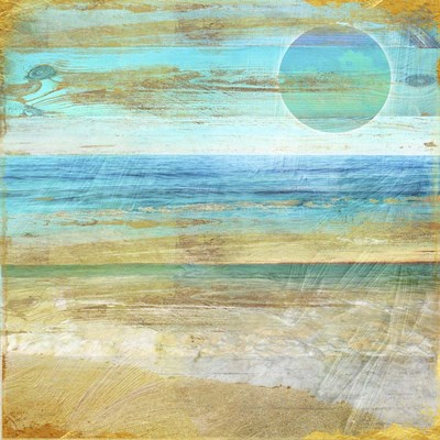 Turquoise Moon Day Poster by Color Bakery for $80.00 CAD