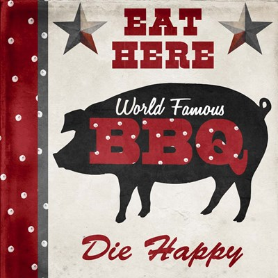 Texas BBQ 2 Poster by Color Bakery for $56.25 CAD