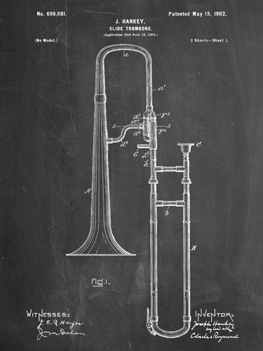 Slide Trombone Poster by Cole Borders for $67.50 CAD