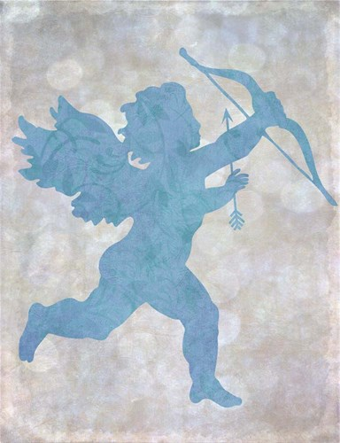 Cupid Blue Poster by Cora Niele for $57.50 CAD