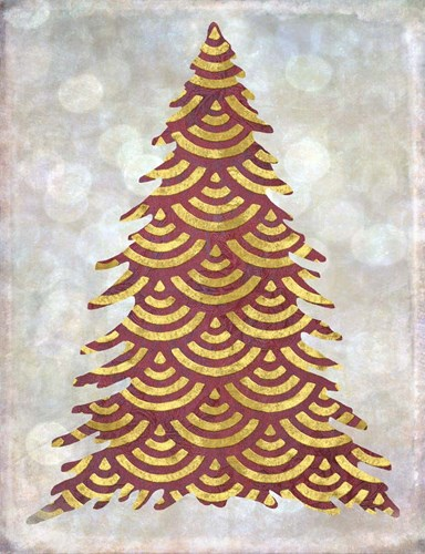 Decorated Red and Gold Xmas Tree Poster by Cora Niele for $57.50 CAD