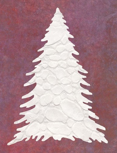 Snowy Fir Tree on pink Poster by Cora Niele for $57.50 CAD