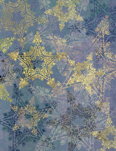 Star Pattern Blue and Gold Poster by Cora Niele for $57.50 CAD