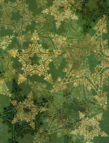 Star Pattern Green and Gold Poster by Cora Niele for $57.50 CAD