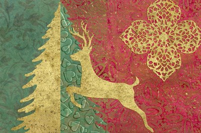 Xmas Tree and Deer Poster by Cora Niele for $43.75 CAD