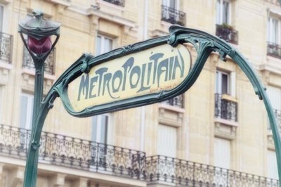 Art Nouveau Entrance of the Paris Metro Poster by Cora Niele for $43.75 CAD