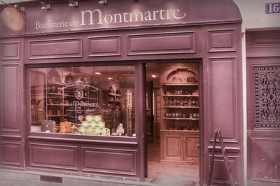Biscuiterie de Montmartre Poster by Cora Niele for $43.75 CAD