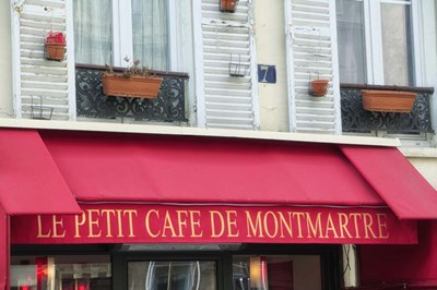 Cafe on Montmartre Poster by Cora Niele for $43.75 CAD