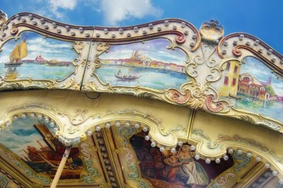 Carousel de Montmartre II Poster by Cora Niele for $43.75 CAD