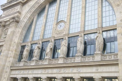 Gare du Nord Station II Poster by Cora Niele for $43.75 CAD