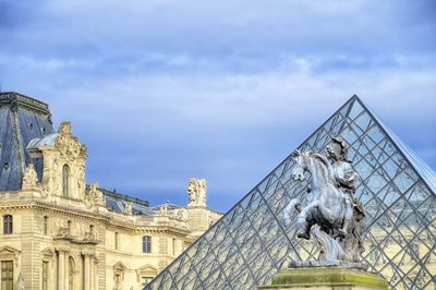 Louvre Palace And Pyramid III Poster by Cora Niele for $43.75 CAD