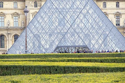 Louvre Pyramid Poster by Cora Niele for $43.75 CAD