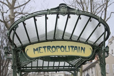 Metropolitain Abbesses Poster by Cora Niele for $43.75 CAD