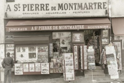 Monmartre Shop 1 Poster by Cora Niele for $43.75 CAD