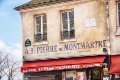 Monmartre Shop 2 Poster by Cora Niele for $43.75 CAD