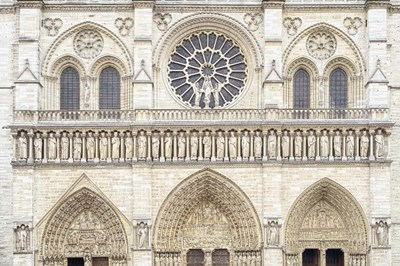 Notre Dame Facade Details I Poster by Cora Niele for $43.75 CAD