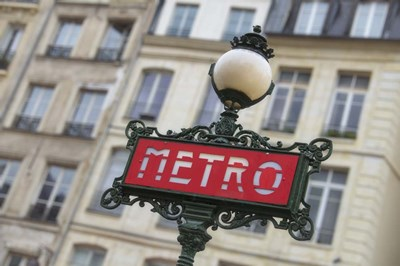 Paris Metro Signpost Poster by Cora Niele for $43.75 CAD