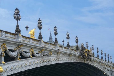 Pont Alexandre III - II Poster by Cora Niele for $43.75 CAD