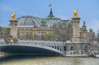 Pont Alexandre III And The Grand Palais Poster by Cora Niele for $43.75 CAD