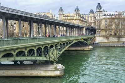 Pont de Bir Hakeim And Seine Poster by Cora Niele for $43.75 CAD