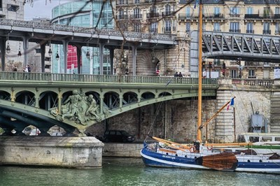 Pont de Bir Hakeim With Boat Poster by Cora Niele for $43.75 CAD
