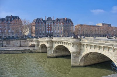 The Pont Neuf II Poster by Cora Niele for $43.75 CAD