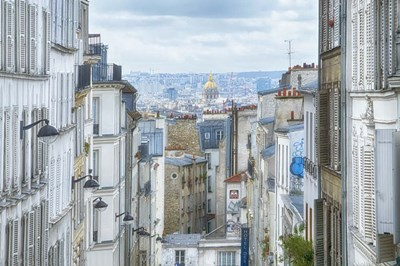 View Over Paris From 'La Butte' Poster by Cora Niele for $43.75 CAD