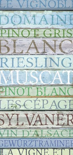 Alsace Wines Poster by Cora Niele for $55.00 CAD