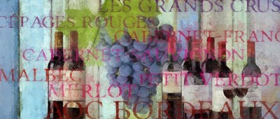 Bordeaux Wine Poster by Cora Niele for $47.50 CAD