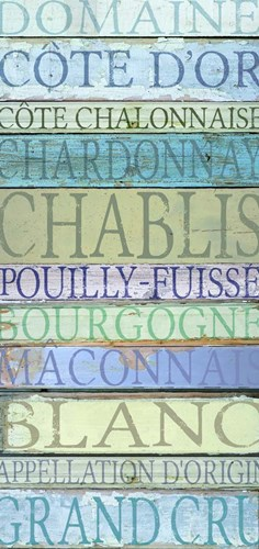 Burgundy Wines White Poster by Cora Niele for $55.00 CAD