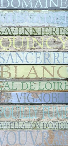 Loire Valley Wines Poster by Cora Niele for $55.00 CAD