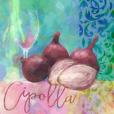 Cipolla Rossa - Red Onion Poster by Cora Niele for $56.25 CAD