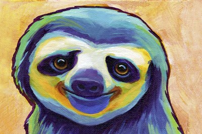 Happy Sloth Poster by Corina St. Martin for $43.75 CAD
