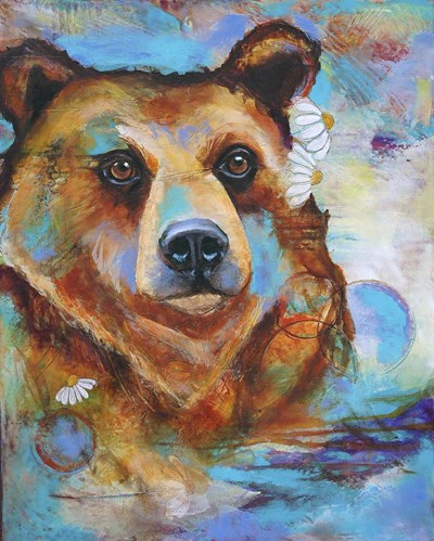 Grizzly Bear Poster by Corina St. Martin for $40.00 CAD