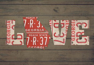 GA State Love Poster by Design Turnpike for $45.00 CAD
